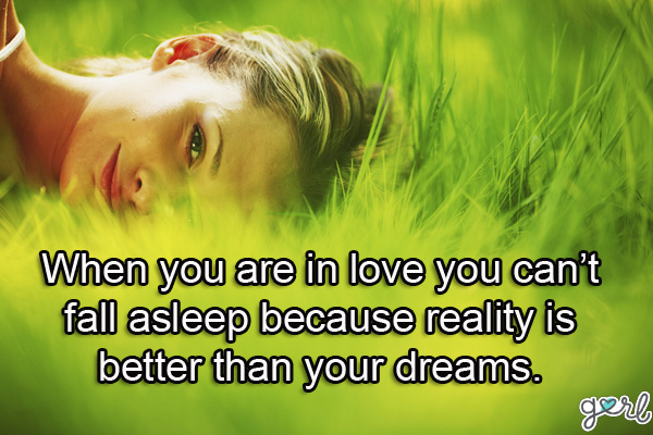 When You Are in love you Can't Fall Asleep Beacuse Reality Is Better Than Your Drems.Cheating Quote
