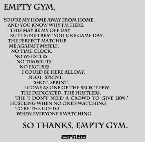 You're My home Away From Home…. So thanks, Empty Gym.. - Cheating Quotes