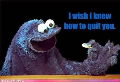 Awesome Celebrity Quote ~ I wish i knew how to quit you.
