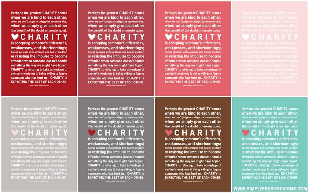 Beautiful Charity Quotes