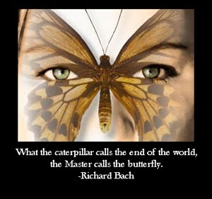 Beautiful Clarity Quote By Richard Bach ~ What the caterpillar calls the end of the world, the Master Calls the Butterfly.