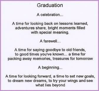 Beautiful Graduate Quotes ~ A time for looking back on lessons learned ,…..