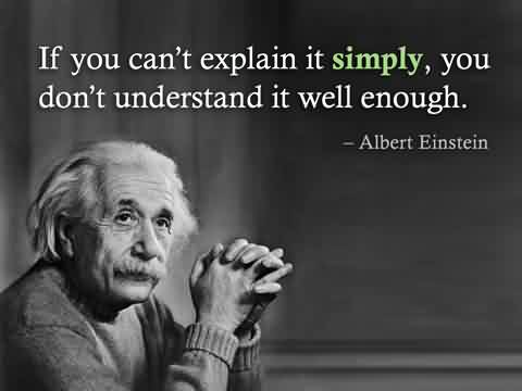 Best Celebrity Quote By Albert Einstein~ If you can't explain it simply, you don't understand it well enough.