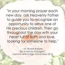 Best Charity Quote~ In your Morning prayer each new day, ask heavenly father to guide ..