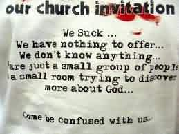 Best Church Quote ~ Our Church invitation
