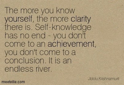 Best Clarity Quote By Jiddu Krishnamurti ~The more you know yourself, the more clarity there is. Self-knowledge has no end