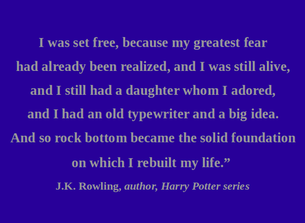 Best Clarity Quote By J.K. Rowling~ I was set free, because my greatest fear had already been realized..