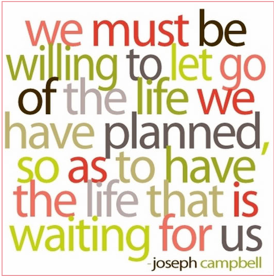 Best Clarity Quote By Joseph Campbell ~ We must be willing to let go of the life we have planned..