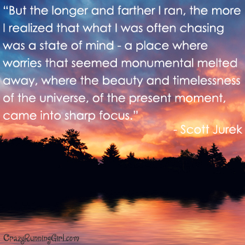 Best Clarity Quote By Scott Jurek ~ But the longer and farther i ran , the mopre i realized that what i was often chasing was a state of mind…..