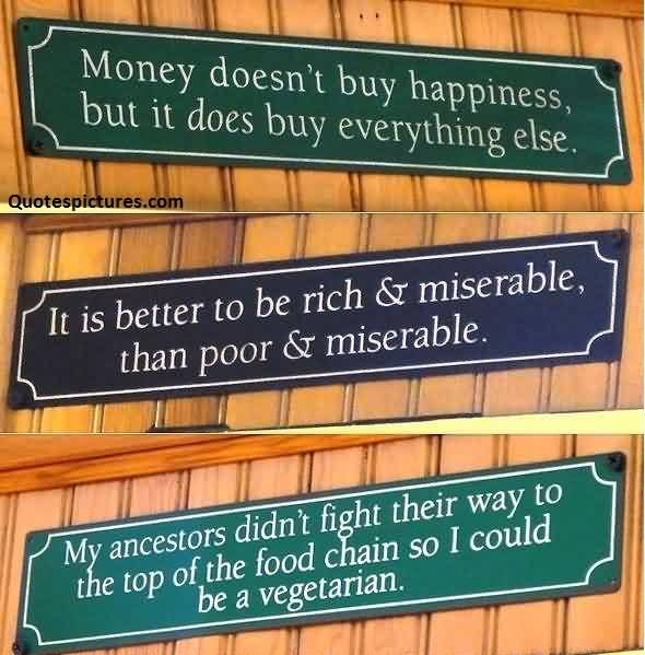 Best Facebook Quotes images - Money doesn't buy happiness
