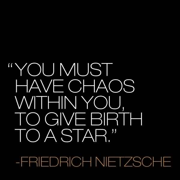 Best Friedrich Nietzsche~ You must have Chaos within You. To Give Birth To a star.