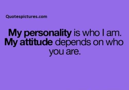 Best Funny Tumblr Quotes for facebook - My personality is who i am