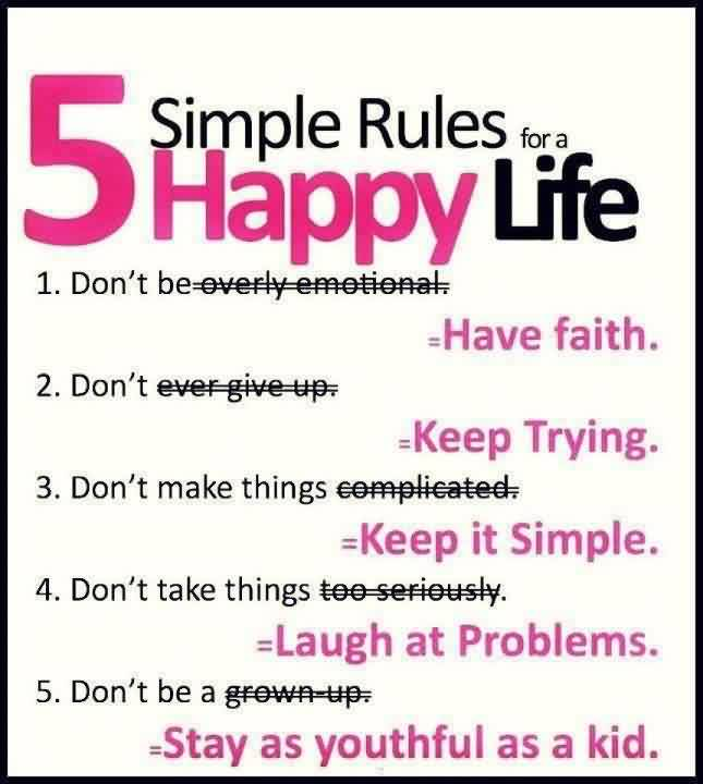 Best Happy Life Rules   Inspirational Life Quote