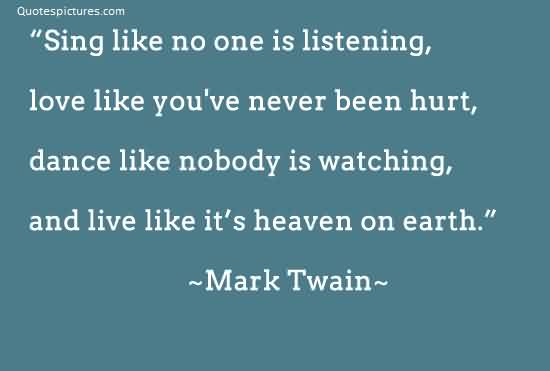 Best quotes about Life by Mark Twain - Live Like it's heaven on earth