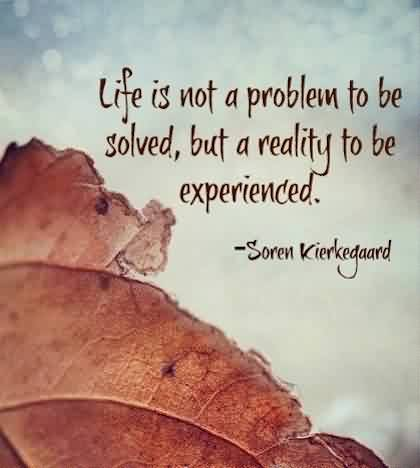 Best quotes on Life - Life is a reality to be experienced
