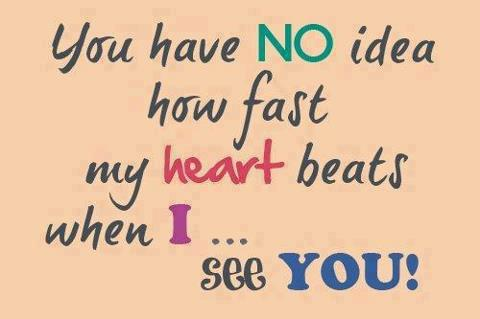 my heart beats for you romantic love quote for girlfriend