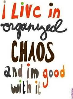 Chaos Quote ~I Live In Organyed Chaos And Im Good With It.