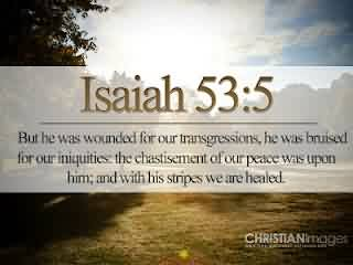 Church Quote ~ Isaiah 53 5