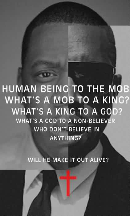 Famous  Church Quote ~ Human being to the mob what's a mob to a king…