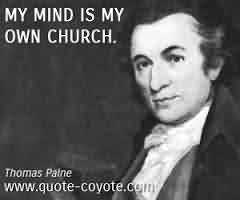 Famous Church Quote ~My mind is my own Church
