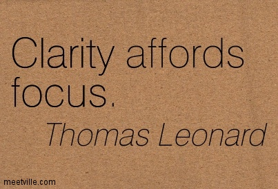 Famous Clarity Quotes By Thomas Leonard ~ Clarity affords focus.