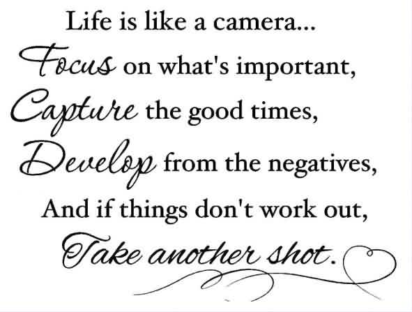 Exceptional Famous Life Quotes U2013 Life Is Like An Camera Focus On Whatu0027s Important