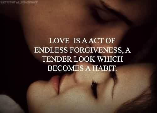 Famous  Tumblr Quote ~ A tender look which becomes  a habit.