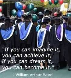 Fine Graduation Quotes ~If You Imagine It, You Can Achieve It, If You Can Become It.