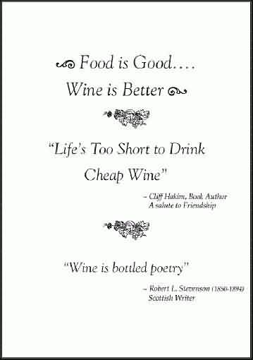 funny Beer Quotes - Life is too short to drink cheap wine
