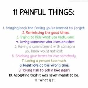 Funny facebook Quotes about Life - 11 painfull things