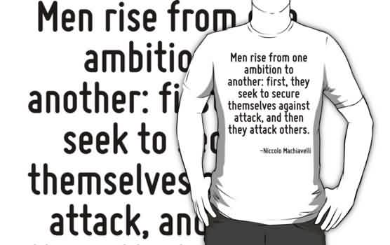 Funny Quotes for him - Men rises from ambition