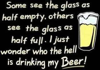 Funny Quotes Images - Who the hell is drinking my beer