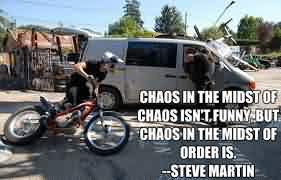 Good Chaos Quote  by Steve Martin~Chaos In The Midst OF Chaos Isnt Dunny But Chaos In The Midst Of Order Is.