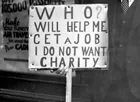 Good Charity Quote ~ Who Will help me cet a job i do not want charity