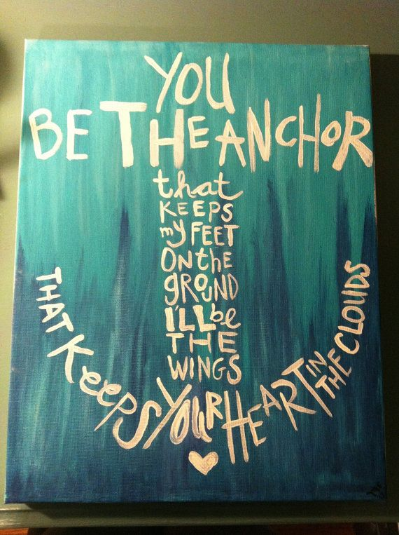 Good Clarity Quote ~ You be the anchor that keeps my feet on the ground …