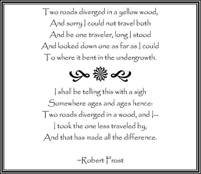 robert frost two roads quote