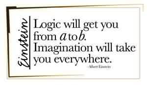 Good Graduation Quotes ~Logic Will Get You From A To B. Imagination Will Take You Everywhere.