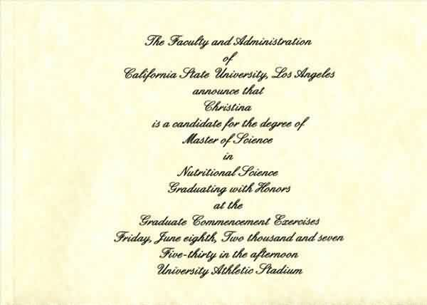 Graduation Quotes ~ The  Faculty and Administration Of ….