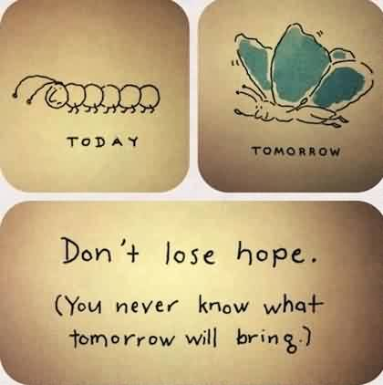 Life Quotes Images-Don't lose hope you never know what tommorow will bring