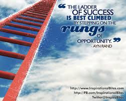 Modern Career Quotes By Ayn Rand~ The Ladder Of Succes  is best climbed