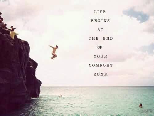 Motivational Life Quote Image-Life begins at the end of your Comfort Zone