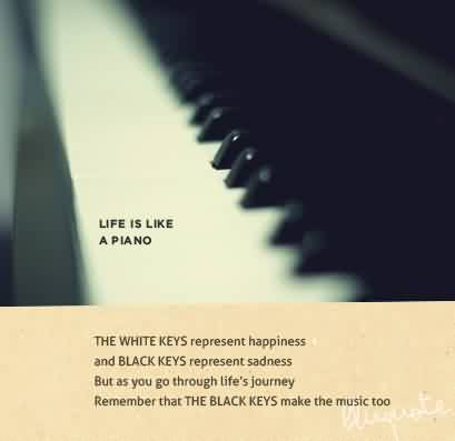 Motivational Life Quotes - Life is Like a Piano