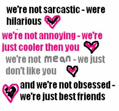 New funny Quotes for facebook - We are just best friends