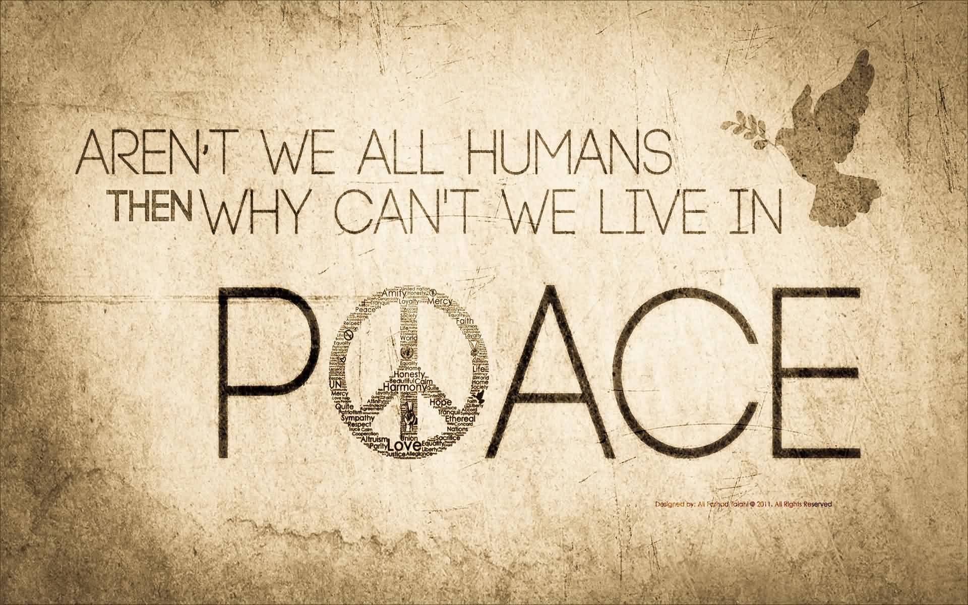 New Life Quote Image-Why cant we lives in Peace