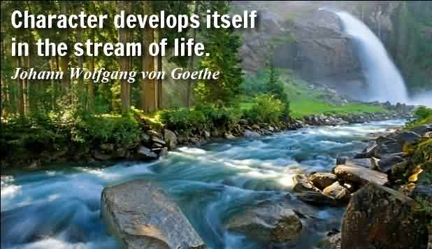 New Life Quotes images-In the stream of Life Character develops itselfs