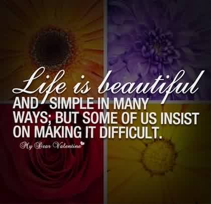 New short Quotes about Life -Life is beautiful, but some of us insist on making it difficult