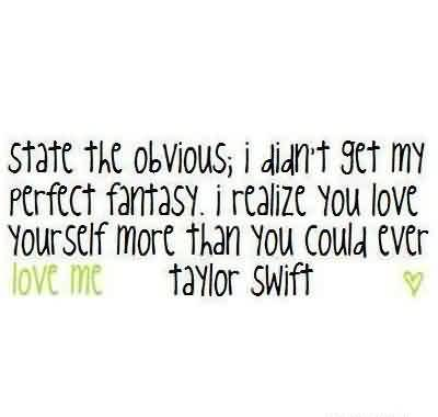 Nice  Celebrity Quote ~ I didn't get my perfect fantasy.