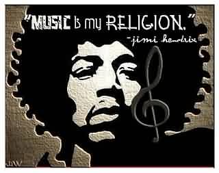 Nice  Celebrity Quote ~ Music is mu religion