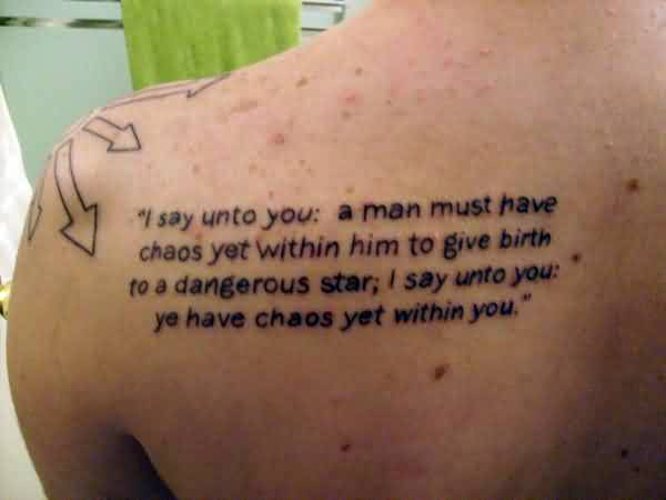 Nice Chaos Quote ~I Say Untio You; A Man Must Have Chaos Yet Within Him To Him To Give Birth To A Dangerous Star; I Say Unto You; Ye Have Chaos Yet Within You.