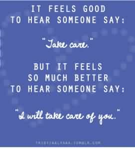 Nice Charity Quote ~ It feels good to hear someone say